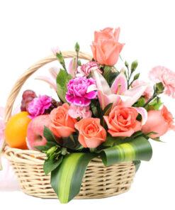 Box, Flowers & Fruits Basket